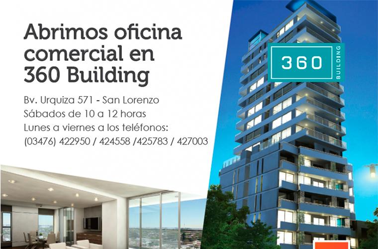 Abrimos oficina comercial en 360 building